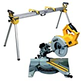 Dewalt DW777 216mm Cross Cut Mitre Saw - 110V with DE7023 Leg Stand