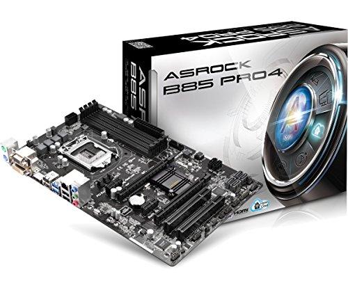 Asrock B85 Pro4 B85 Pro4 Scheda Madre, Nero