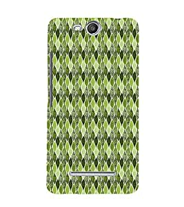 Green Leafs Autumn 3D Hard Polycarbonate Designer Back Case Cover for Micromax Canvas Juice 3 Q392