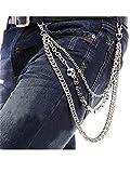 Men Male Punk Non-mainstream Skull Trousers Key Chain Hip-hop Waist Jeans Tide Hiphop Skull Keychain