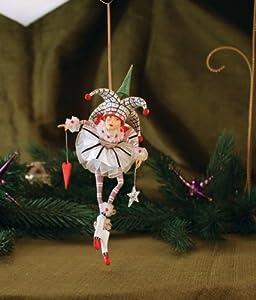 Patience Brewster Josie Joker of Hearts Ornament - Krinkles Christmas Décor New 08-30763