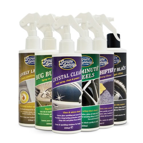 Greased Lightning Taster Pack 6 x 250ml Car Cleaning