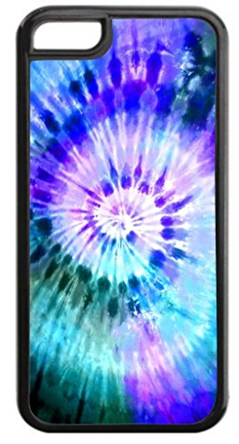 TD LLC Hipster Tye Dye print colorfulRubber Case for Apple iPhone 5, 5S, SE Made and Shipped from USA and delivered within 8 Days. Includes front screen protector . Style 110 (Tye Dye Cases For Iphone 5s compare prices)