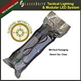 LazerBrite® Tactical Light System - Red & Green LED Separable System/Multifunction / Electric Chemlight
