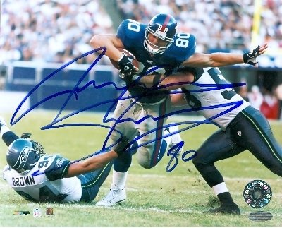 Jeremy Shockey Autographed/Hand Signed 8x10 Photo (New York Giants) at Amazon.com