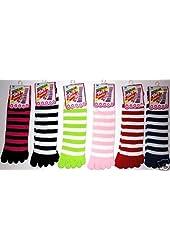 Wholesale Lot 10 Womens Toe Socks Toesocks Cute Funky Sox