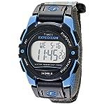 Timex Unisex T49660 Expedition Classic Digital Chrono Alarm Timer Blue/Gray Fast Wrap Velcro Stra...