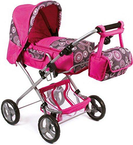 Puppen-Kombiwagen Bambina Hot, pink, 80 cm, 1 Stück