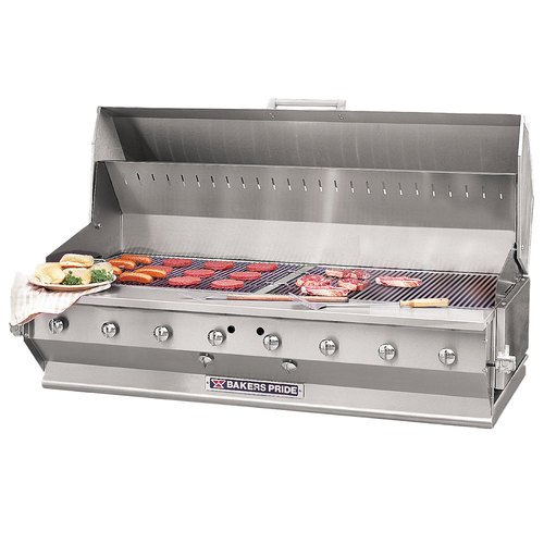"Liquid Propane Bakers Pride CBBQ-60S-BI 60"" Ultimate Built-In Gas Outdoor Charbroiler with Grill Cov"