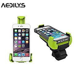 Bike Mount ,AEDILYS Universal Bicycle Motorcycle Handlebar Mount Cell Phone Holder Cradle Adjustable for iPhone 6 6S Plus 5S 5C 4S, Samsung Galaxy S5 S4 S3 Edge Note 2 3 4,Nexus 5,HTC,LG ,GPS