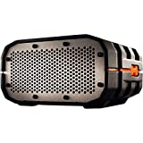 Braven BRV-1 Portable Ultra Rugged Wireless Speaker, Black with Orange Relief and Gray G