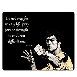 Lovely Collection Bruce Lee Inspirational Quote Mousepad