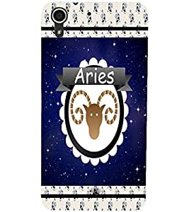 PrintDhaba zodiac Aries D-2768 Back Case Cover for HTC DESIRE 728 (Multi-Coloured)