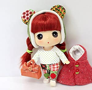 "Amazon.com: Ddung 7"" Red Cape Cute Doll Figure Collectible ..."