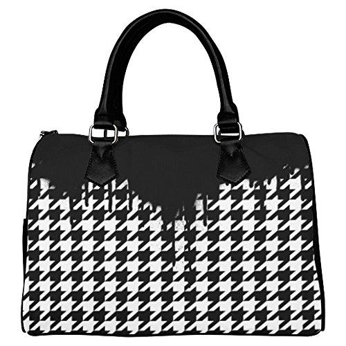 Houndstooth Boston Shoulder Bag/Handbag for Women