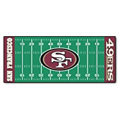 FANMATS NFL San Francisco 49ers Nylon Face Football Field Runner by Fanmats