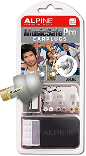 Alpine MusicSafe Pro Hearing Protection System for Musicians, Silver (Alpine Hearing Protection Pro compare prices)