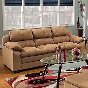 Simmons Upholstery 5068 Velocity Sofa Latte