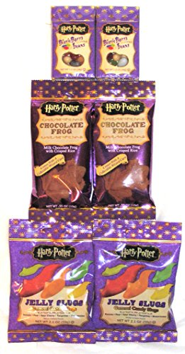 Harry Potter Magical Wizarding Candy Multi-Pack-Chocolate Frogs, Jelly Slugs & Bertie Bott's