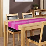 ELAN Cotton Moroccon theme based table runner with size 33x140cm (Pink)