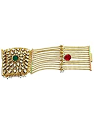 Shingar Jewellery Antique Gold Polki Kundan Braselet Dastband For Women (4-bck4-cb-a)