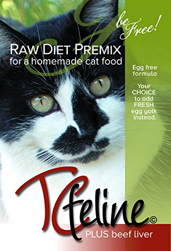 TCfeline RAW Cat Food Premix / Supplement to make a Homemade, All Natural, Grain Free, Holistic Diet - With Beef Liver (Trial 4.2 oz)