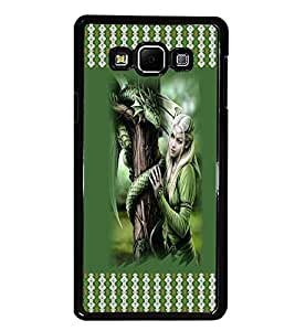 PrintDhaba Fantasy Girl D-3574 Back Case Cover for SAMSUNG GALAXY A8 (Multi-Coloured)