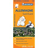 Carte Allemagne Sud-Ouest Michelin