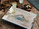 Blue Crab Recycled Bamboo Indoor/Outdoor Serving Tray