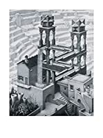 Artopweb Panel Decorativo Escher Waterfall,1961 - 42X53 cm Bordo Nero