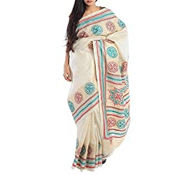 Kiara Crafts Tussar Silk Saree (kc-036_Multi)