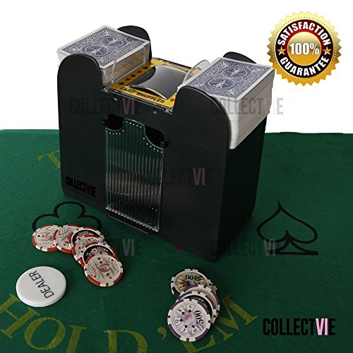 Casino 6 deck automatic card shuffler bridge and stand