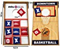 Junior Basketball Cornhole Bean Bag Toss Game for Kids - Reversible, 2 Games on 1 Board - Tic Tac Toe and Cornhole Party Games for Kids.