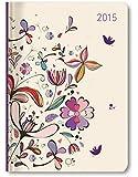 Ladytimer Flower Art 2015 - Taschenplaner / Taschenkalender A6 - Weekly - 192 Seiten