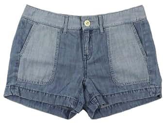 Tommy Hilfiger Women's Mixed Chambray Shorts (6, Chambray)