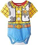 Disney Baby-Boys Newborn Toy Story Woody Creeper Set, Yellow, 12 Months