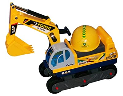 Childrens Ride on Excavator Digger Kids Farm Outdoor Toy Ride On Tractor DIGGER