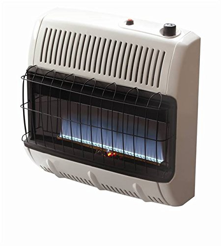 Mr. Heater Corporation Vent Free Flame Natural Gas Heater, 30k BTU, Blue (Gas Heater Wall Unit compare prices)