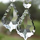 {Factory Direct Sale} Shining 10pcs HOT Elegant Beautiful Clear Crystal Glass Faceted Maple Chandelier Lamp Light Pendant Beads A Grade
