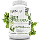 Pure Green Coffee Bean Extract - Maximum Strength Fat Burner - 90 Powerful Capsules to Accelerate Weight Loss - Chlorogenic Acid Intercepts and Burns Glucose and Fat, Slows Release of Sugar Into the Bloodstream to Prevent Fat from Forming - All Natural Pills with Zero Negative Side Effect - GCA (Green Coffee Antioxidant) Triggers Energy Burst and Fires Up Metabolism - 45 Day Supply - Order Risk Free With Lumen Naturals