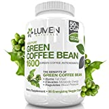 Green Coffee Bean Extract 50% Chlorogenic Acid - Clinically Proven to Safely Burn Fat Fast - Boost Energy Levels & Fire Up Metabolism for Weight Loss - A Powerful Antioxidant - by Lumen Naturals