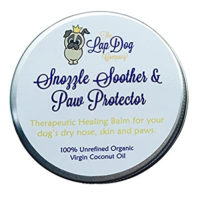 The LapDog Co. - Snozzle Soother and Paw Protector - Healing Balm for Dog's Dry Noses, Skin and Paws - 100% Unrefined Organic Virgin Coconut Oil