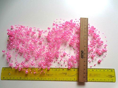 15m perles guirlande 3 et 8 mm: Rose
