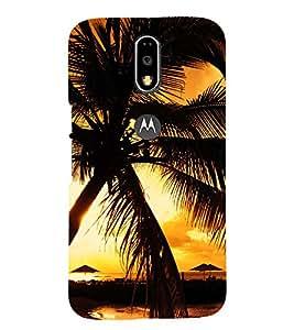 PRINTSOPPII BEACH Back Case Cover for Motorola Moto G4 Plus