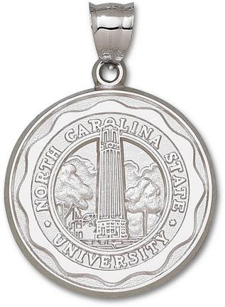 North Carolina State Wolfpack Sterling Silver Seal Giant Pendant
