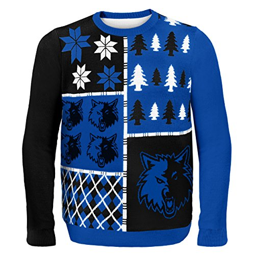 NBA Minnesota Timberwolves Busy Block Ugly Sweater