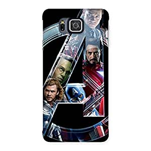 Multicolor A Only Back Case Cover for Galaxy Alpha