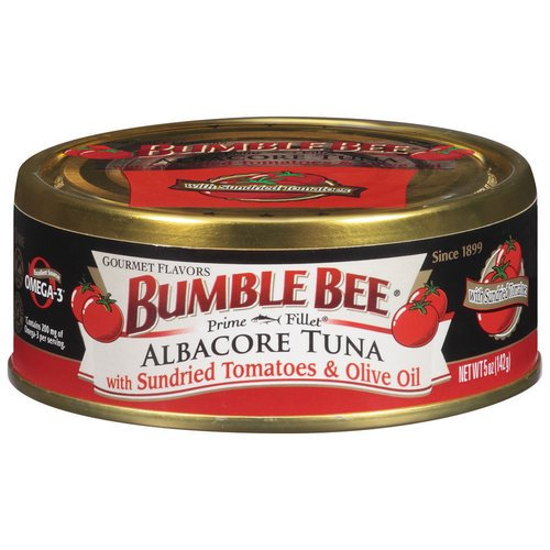 Bumble Bee Prime Fillet Albacore Tuna With Sundried Tomatoes & Olive Oil, 5 Oz (Pack Of 6)