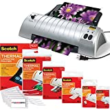 Scotch TL901 Thermal Laminator 2 Roller System with 110 Assorted Pouch Sizes & Free Scotch brand Luggage Tags