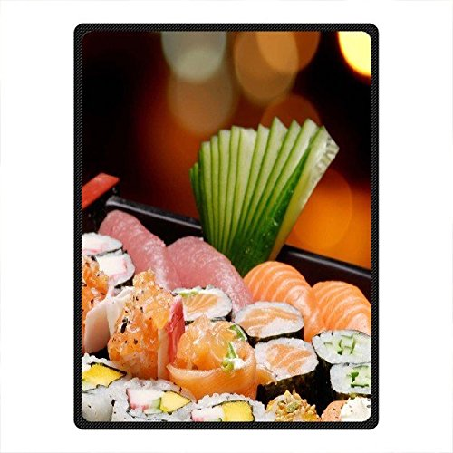 "Hot Kitchen Custom Sushi Anti Pilling Supersoft Fleece Throw Blanket 58"" x 80"""